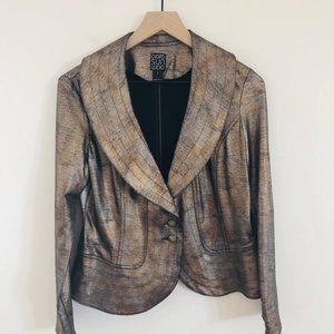 Clara Sun Woo Metallic Blazer Jacket Small